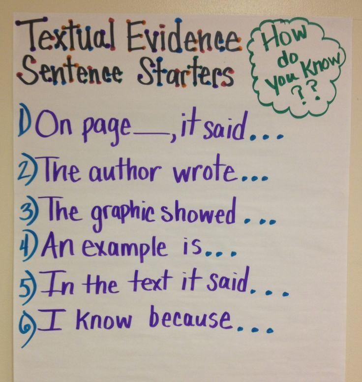 Common Core is all about evidence!!  Standard One for all grades is all about sh