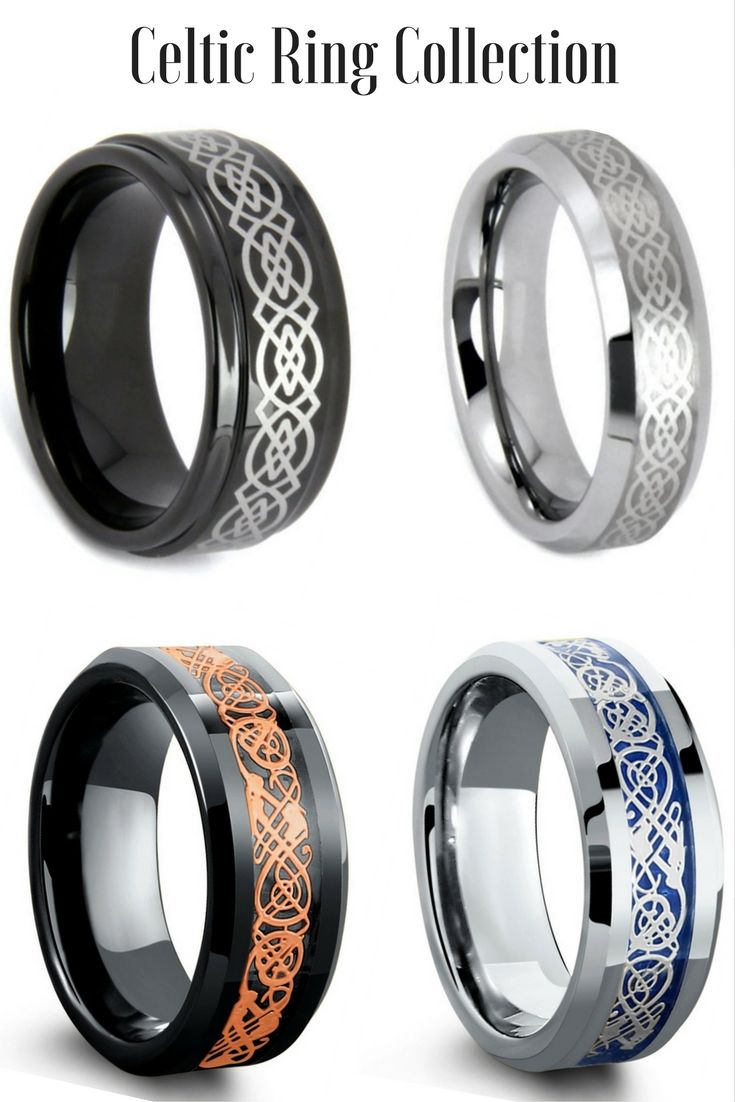 mens celtic wedding bands irish wedding rings Mens Celtic Tungsten Wedding Rings I love all these celtic rings Some of the