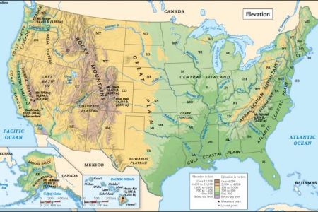 united states elevation map | geography | pinterest | maps