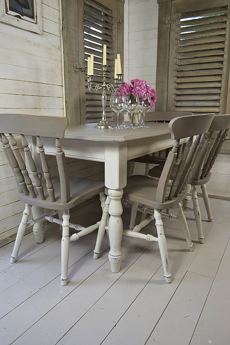 grey table grey kitchen chairs Dine in style with our stunning grey and white split dining set Painted in Annie