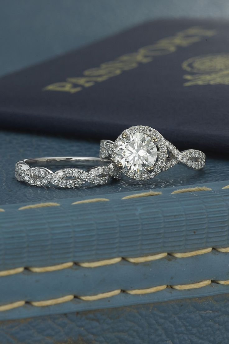 infinity wedding bands infinity diamond wedding band Halo infinity diamond engagement ring alongside round diamond twisted infinity wedding band shanecompany