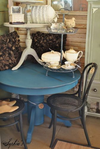refinished furniture ideas painting kitchen table updated painted kitchen table paint 25 each and the little two tiered