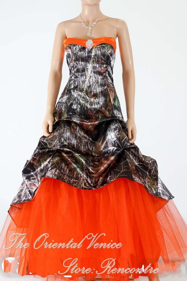 camouflage wedding camouflage wedding dress Hunter Orange Camo Wedding Dress New Realtree Camouflage Wedding Gowns Lace up Back Bridal
