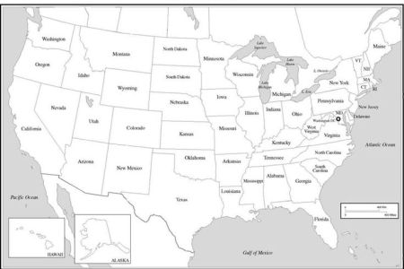 united states map with state names | the united states map