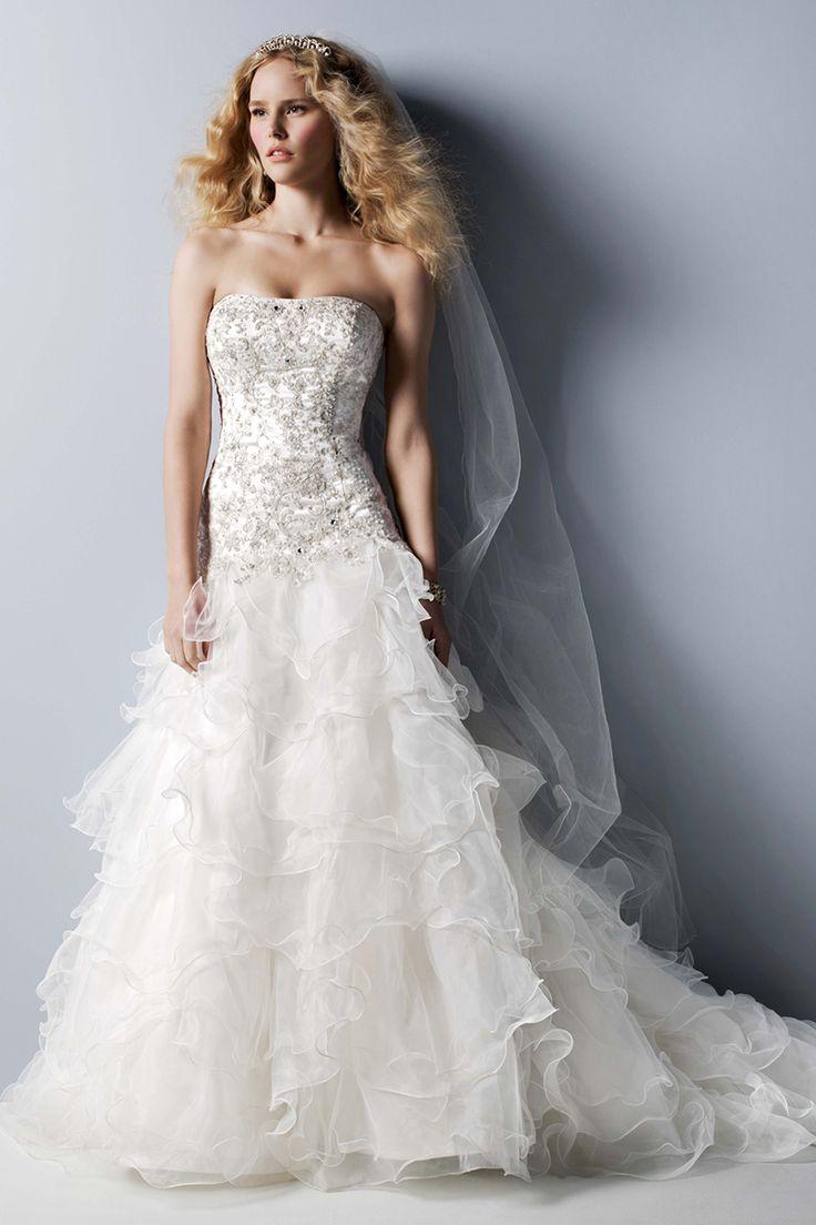 oleg cassini at david's bridal davids bridal wedding dresses Oleg Cassini at David s Bridal Style CWG Organza Wedding DressesWedding