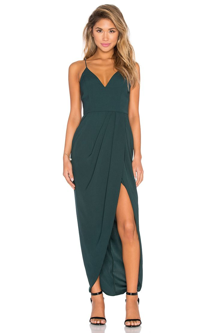 summer wedding guest dresses wedding guest dresses Shona Joy Stellar Drape Maxi Dress in Seaweed Wedding Guest