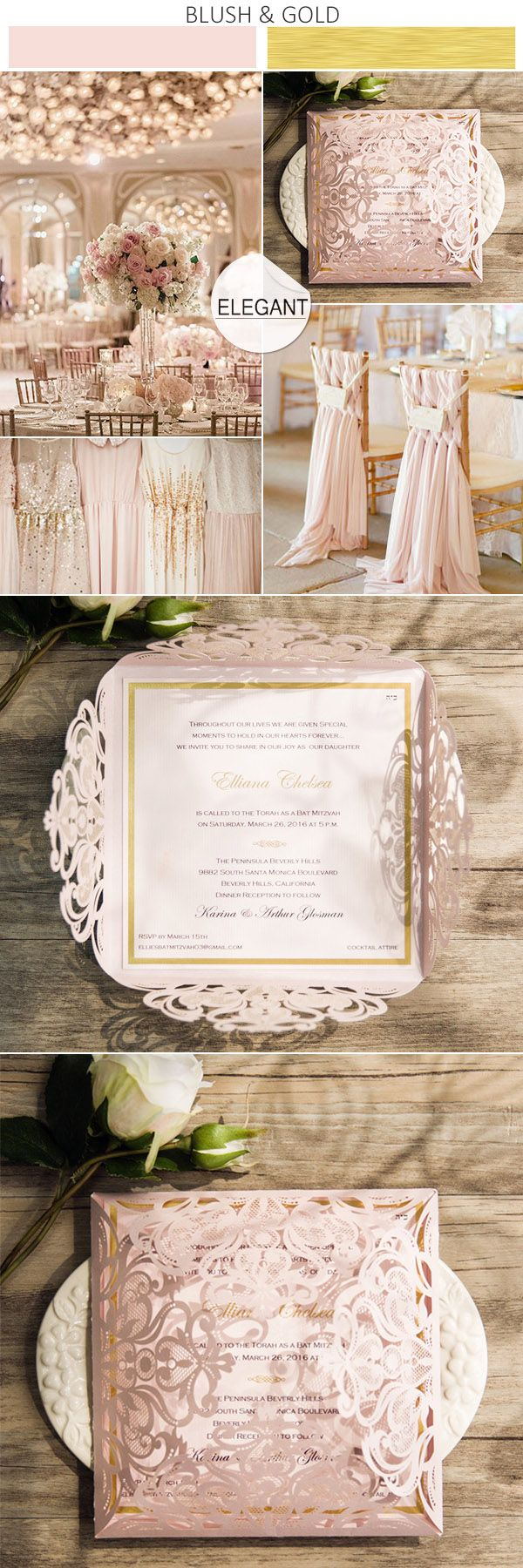 blush wedding invitations blush wedding invitations blush pink and gold wedding colors inspired laser cut wedding invitations