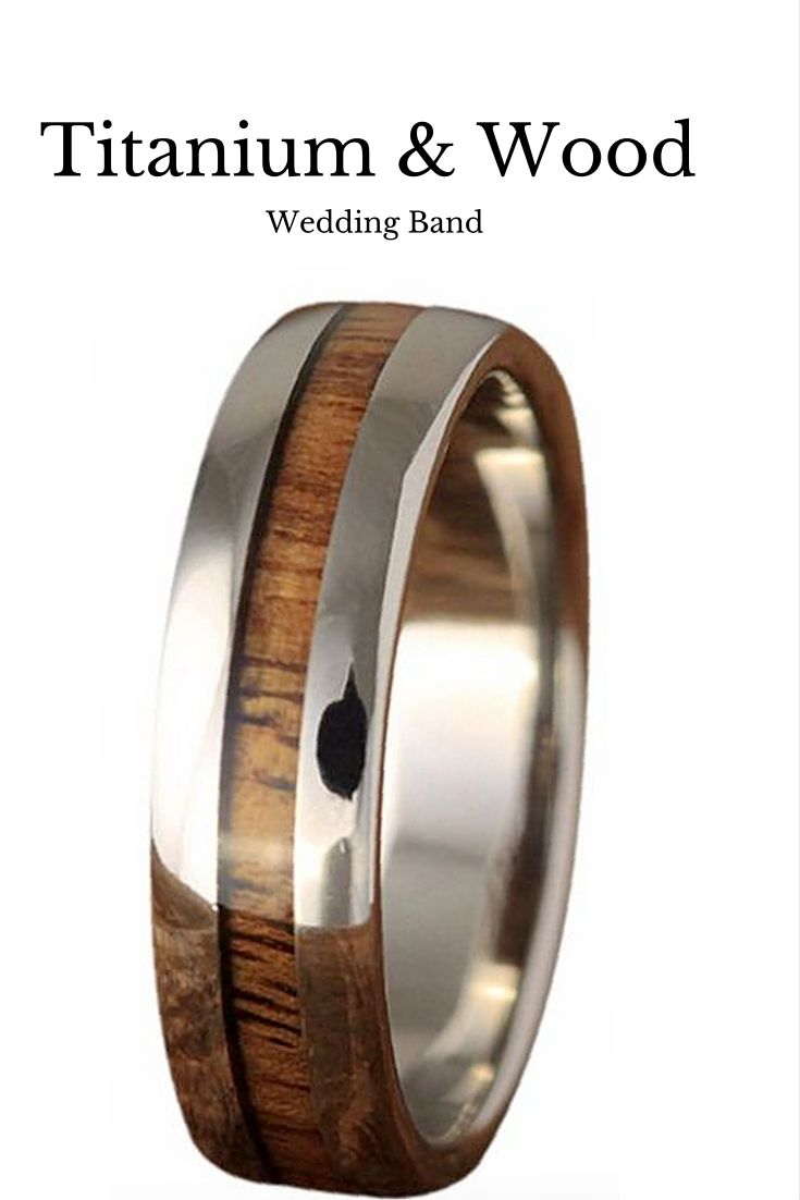 wood wedding bands guys wedding rings Skinny Titanium Koa Wood Ring 6mm Wood Wedding BandsUnique Mens