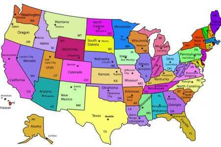 map of united states capitals | diy united states magnets