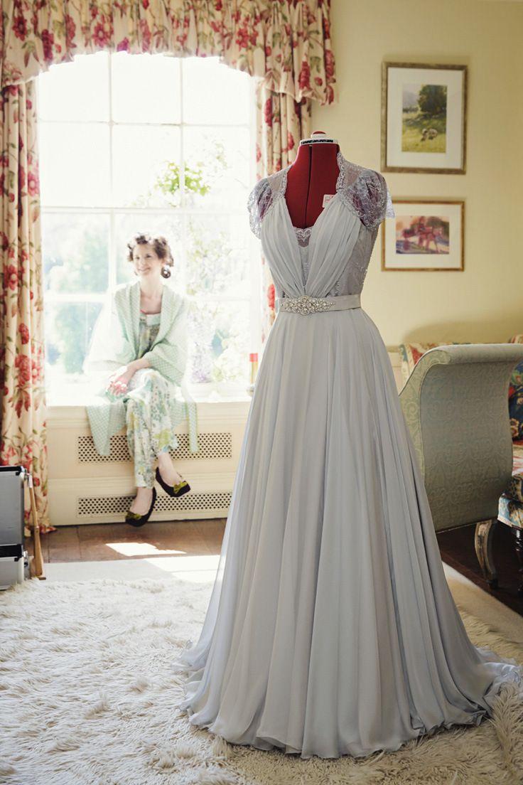 handmade wedding dresses handmade wedding dresses An Elegant Grey Chiffon Wedding Dress for a Spring Handfasting Ceremony
