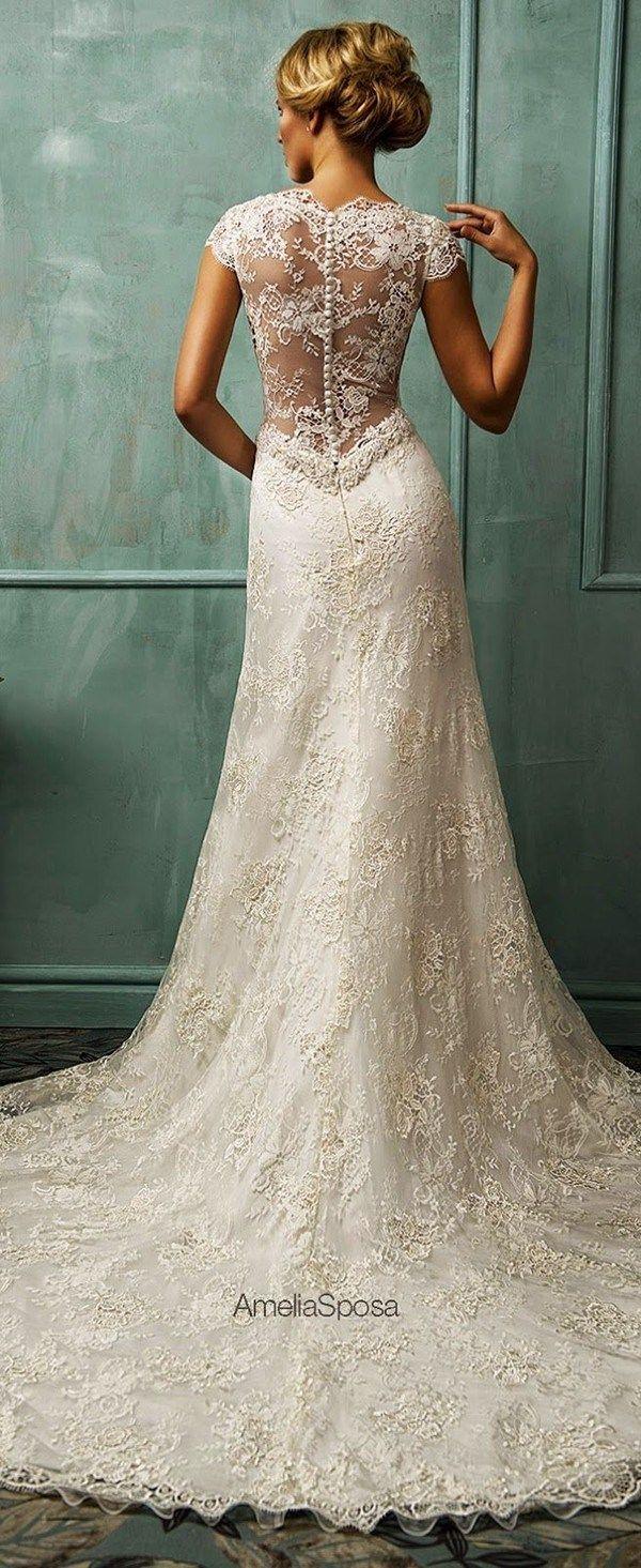 vintage lace weddings vintage lace wedding dress Amelia Sposa Wedding Dresses