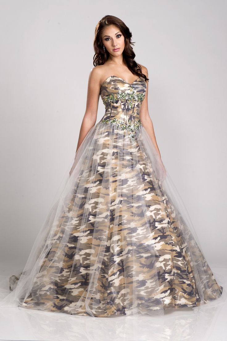 camo wedding white camo wedding dress Divinely Hers Boutique Camo Queen formals gowns cocktail dresses prom dresses