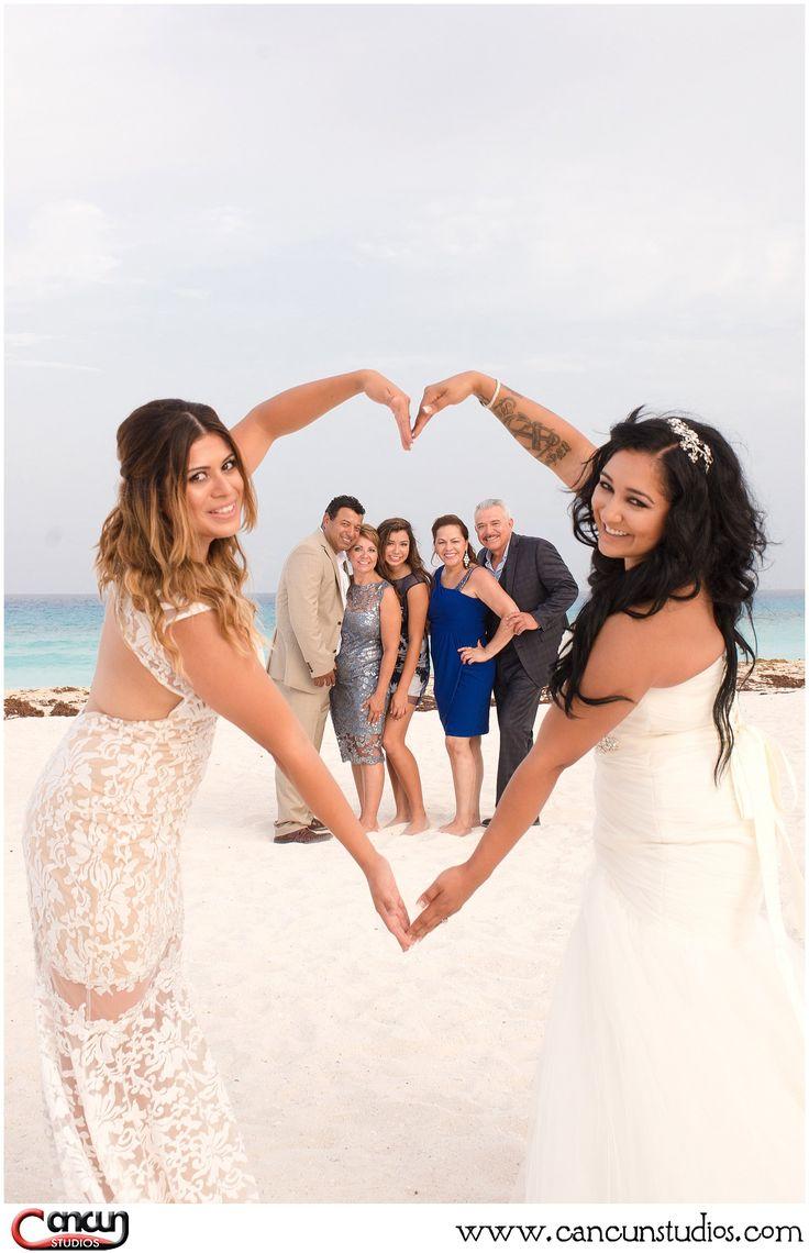 lesbian beach wedding lesbian wedding ideas Same sex wedding in Cancun LGBT wedding lovewins Lesbian wedding at the beach www