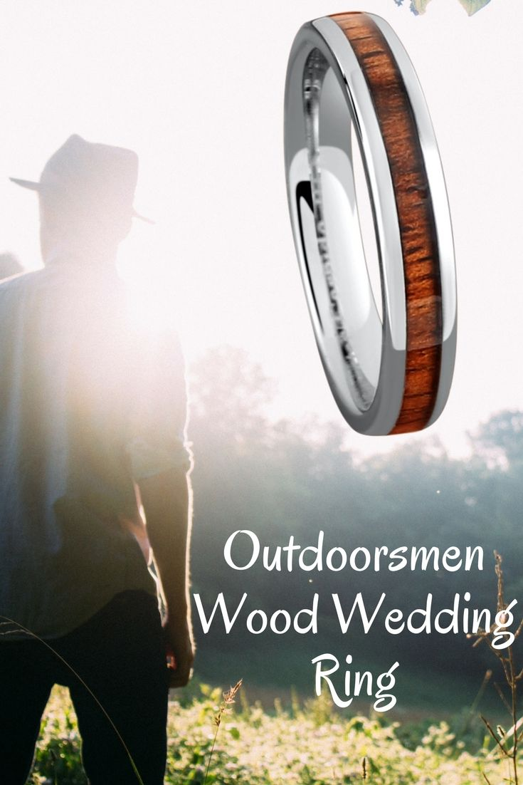 wupples weddings pins outdoorsman wedding band The outdoorsmen wood wedding band For those men who love the great outdoors My