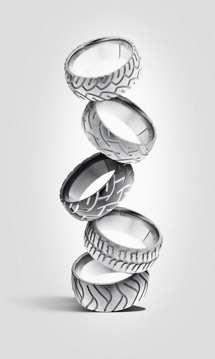 mens wedding bands wedding ring Men s wedding band For the mechanic or car lover Tire rings Men s wedding