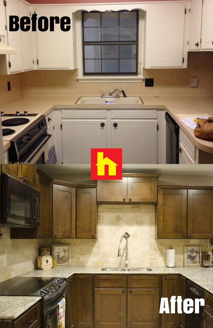 home remodeling kitchen remodel cincinnati Kitchen makeover by Donna G Shreveport LA The second photo is the after