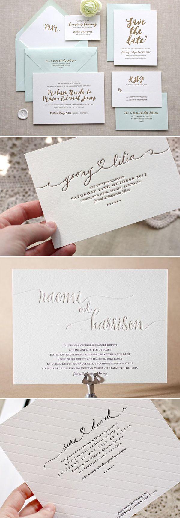creative wedding invitations photo wedding invitations 30 Creative Invitation Ideas for Minimalist Couples