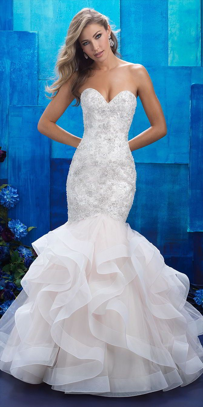 wedding dress silhouette wedding dress mermaid Allure Bridals Spring Wedding Dresses
