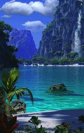 Paradise Lake, New Zealand: