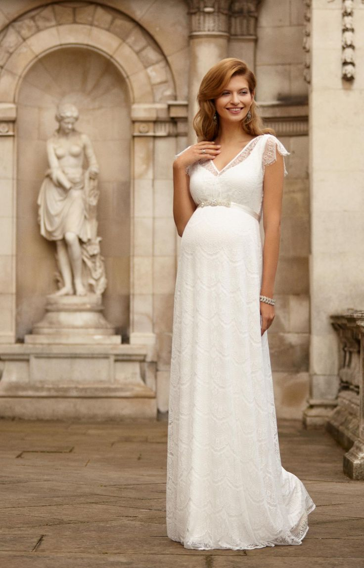 maternity wedding gowns maternity dresses for weddings Kristin Gown Long Maternity Wedding DressesMaternity