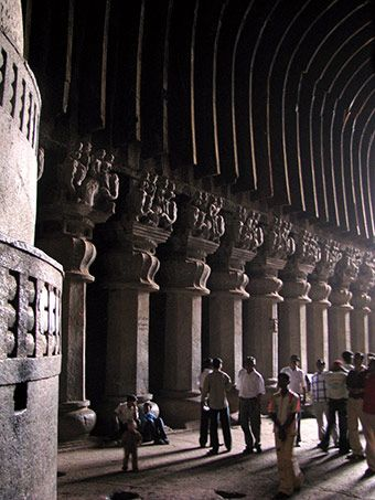 Karla Caves, the most magnificent rock-cut chaitya in India:
