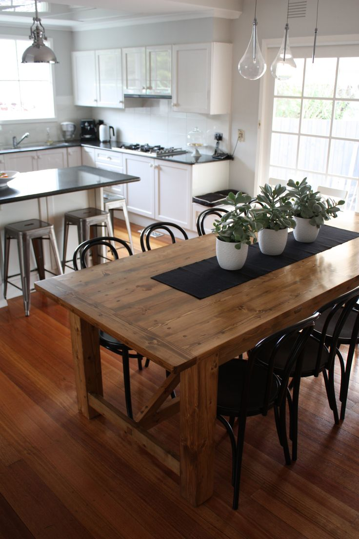 dining table price rustic kitchen tables Rustic Dining Table pairs with Bentwood Chairs