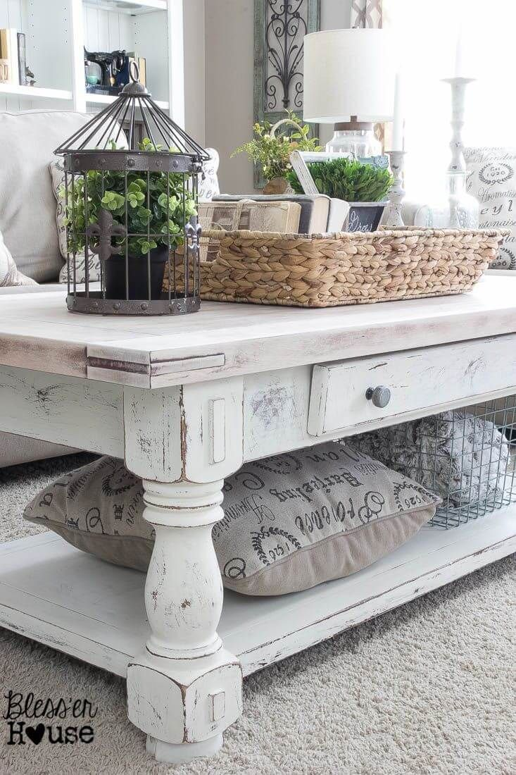 white wash table whitewash kitchen table 37 Coffee Table Decorating Ideas to Get Your Living Room in Shape