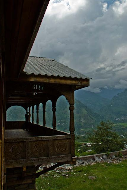 Amazing Views of Kullu Valley from Naggar Castle on a Hill-Top: