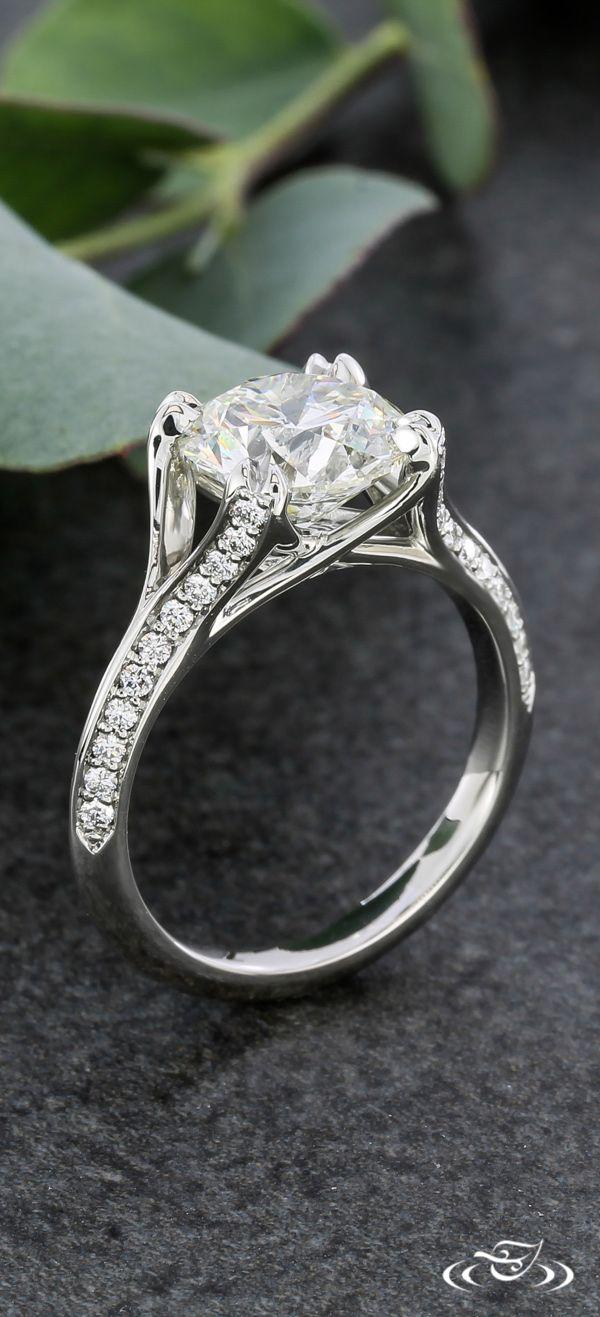 platinum engagement rings pictures of wedding rings Elegant Platinum Diamond Melee Engagement Ring Green Lake Jewelry