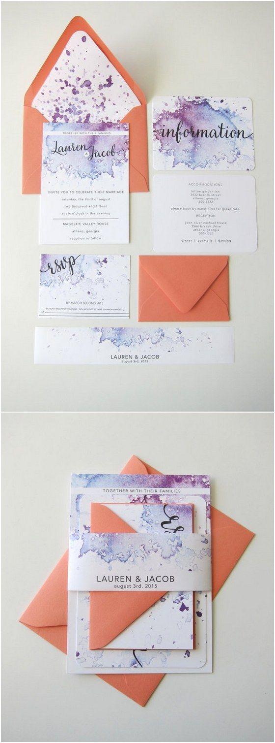 wedding invitation kits wedding invitation kit 40 Watercolor Wedding Invitation Ideas You Will Love