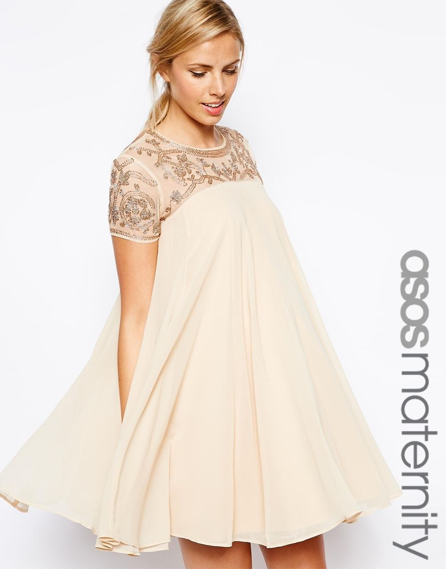 maternity dresses for weddings ivory sequined shift maternity cocktail dress for a wedding
