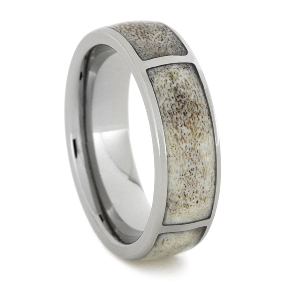 outdoorsman wedding band This is how hunters say I DO with a Deer Antler Wedding band This