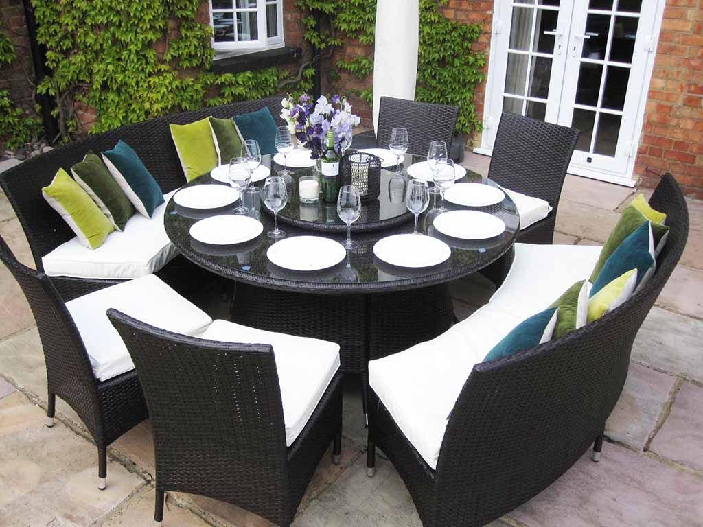 large kitchen tables Dining Room Tables 50 Designs Made from Glass Wood large round dining room