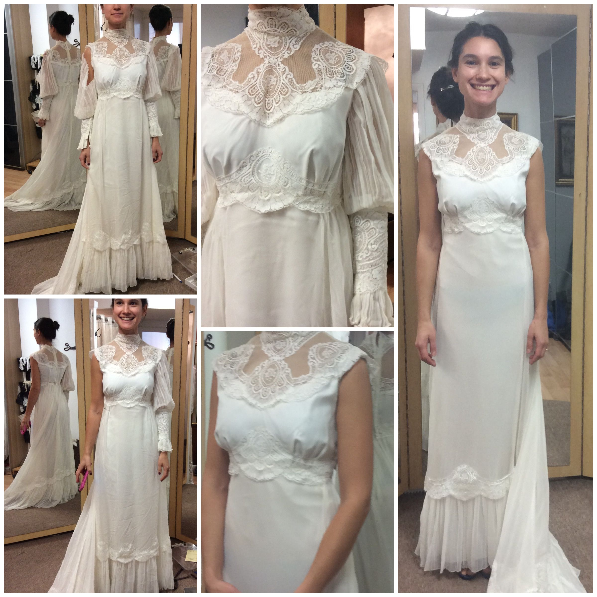 mothers wedding dresses Transformation of the heirloom mother s wedding dress to beautiful up to date daughter s wedding