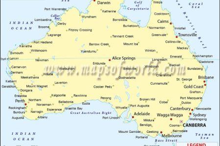 map australia towns