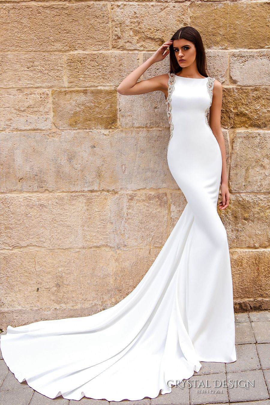 simple elegant wedding dress Bridal