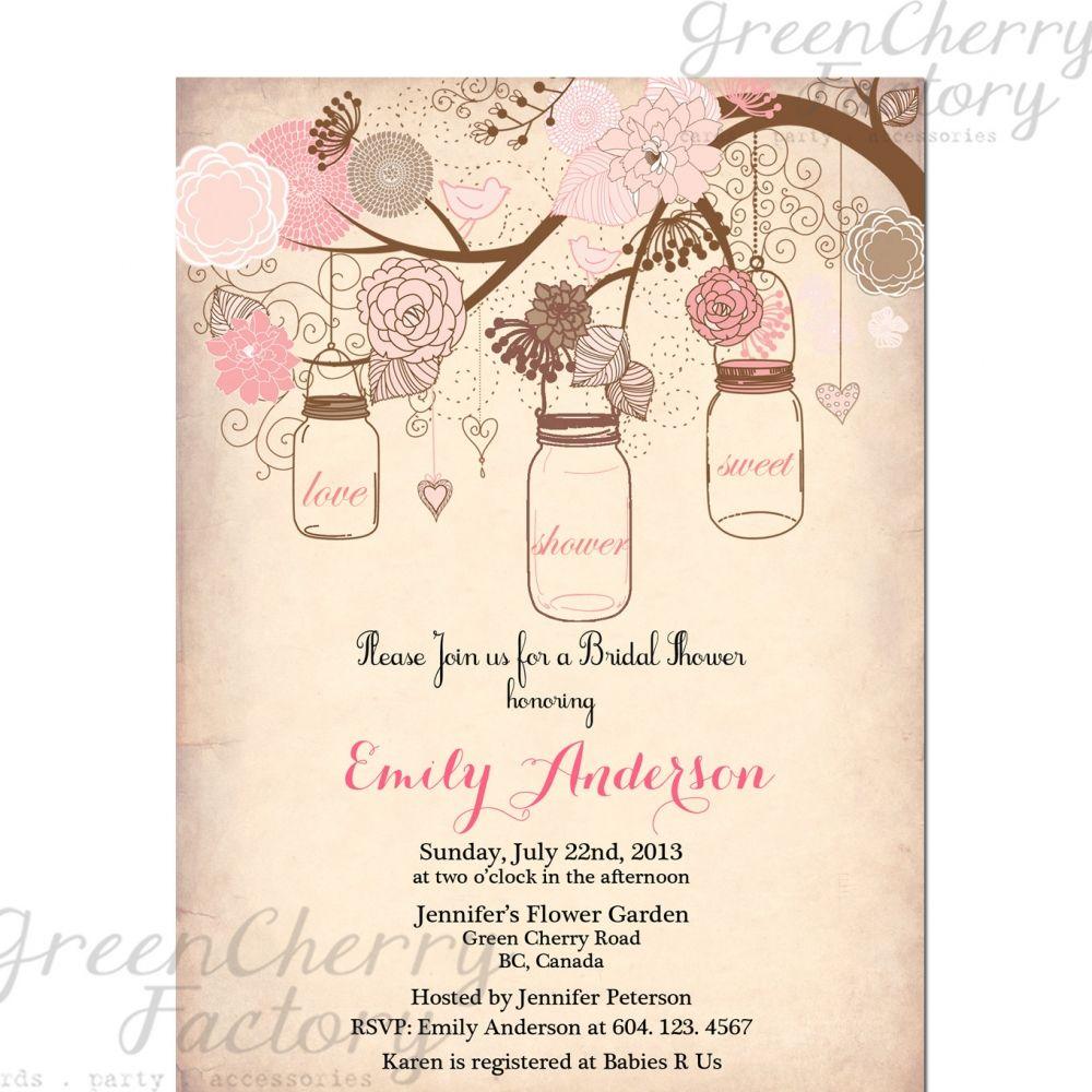 wedding shower invitation template Vintage Bridal Shower Invitation Templates Free