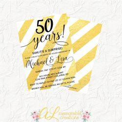 Small Crop Of 50th Anniversary Invitations