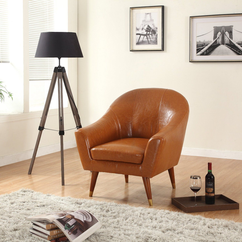 amazon kitchen chairs Amazon com Divano Roma Furniture Signature Collection Mid Century Modern Bonded Leather Living Room