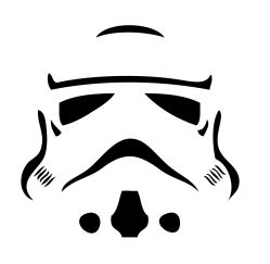 storm trooper stencil for gift bags photo