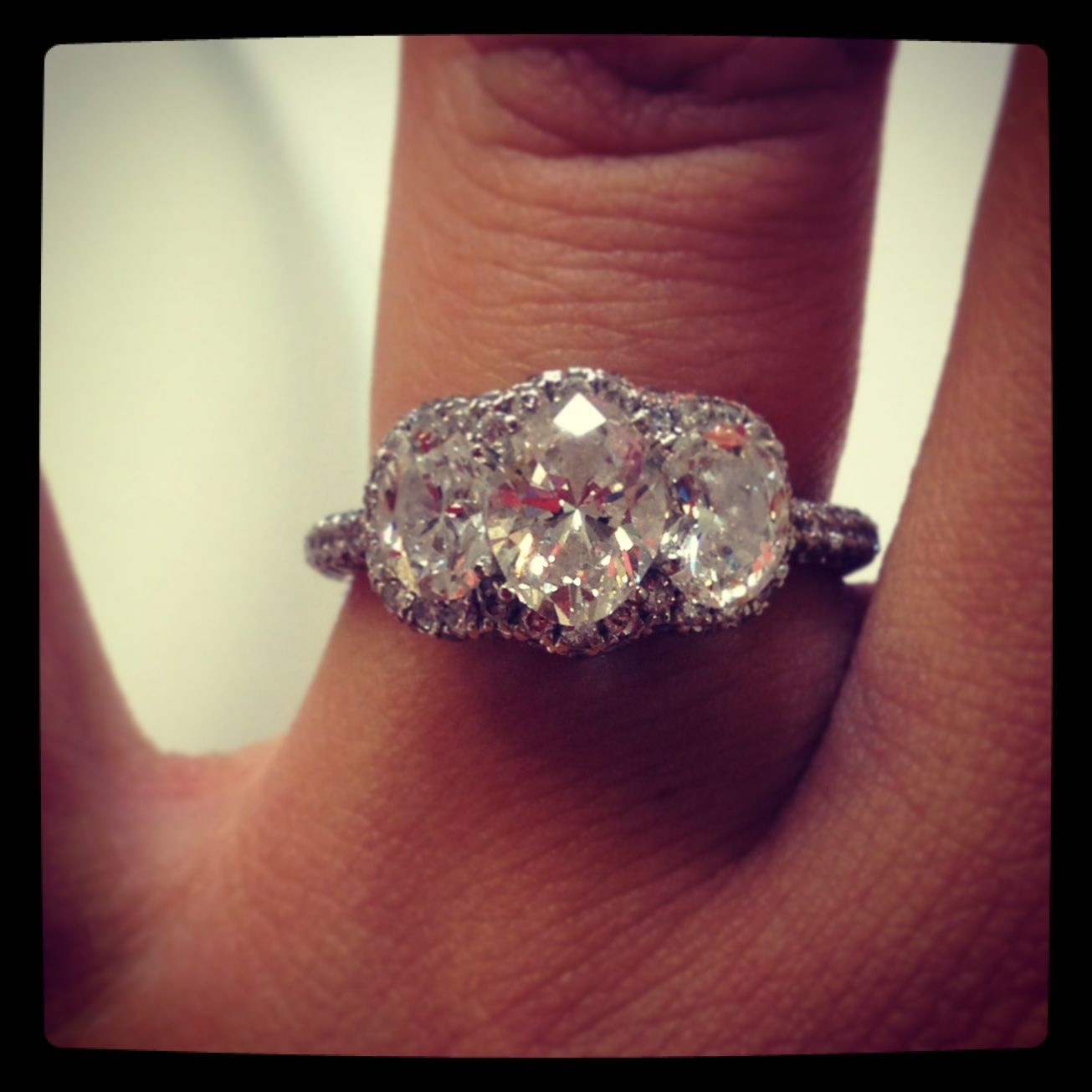 jared wedding rings Love my engagement ring 2 3 carat Neil lane 3 stone engagement ring from Jared s