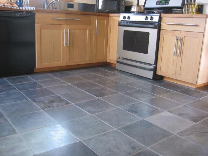 gray kitchen floor kitchen tile floor Slate Floor Tiles Kitchen Amazing Decoration Decorating Ideas This Gray tile flooring will be