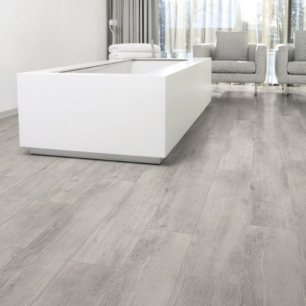 laminate flooring in kitchen Aquastep Waterproof Laminate Flooring Oak Grey V Groove