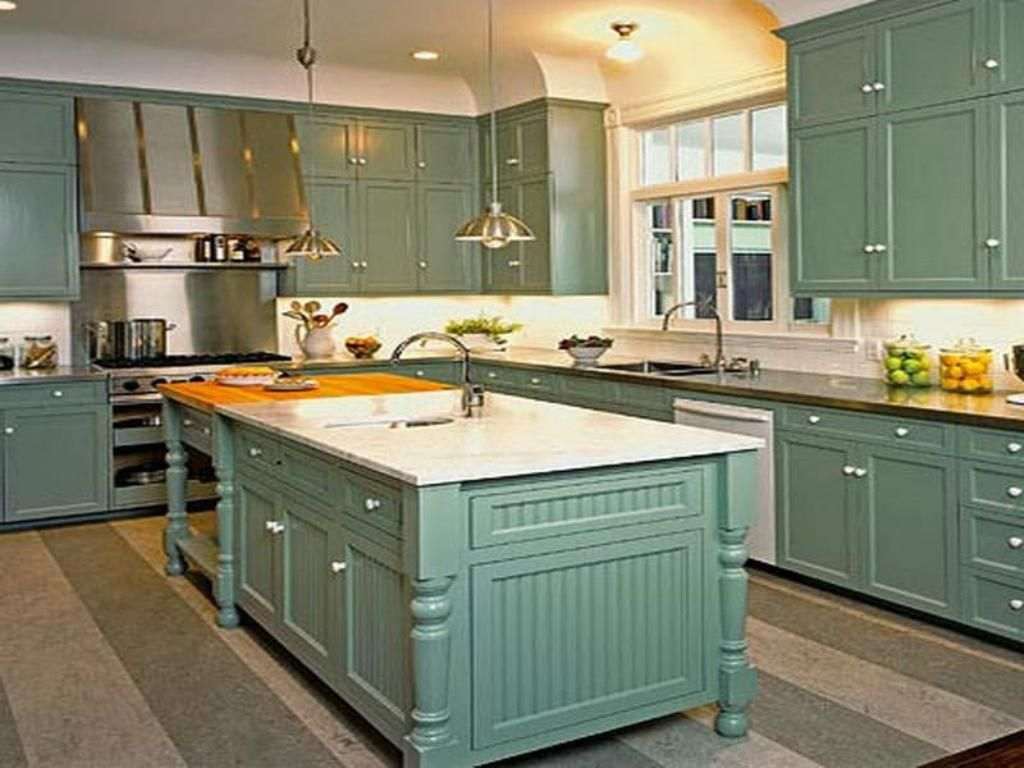 different color kitchen cabinets Kitchen Teal Kitchen Cabinet With White Wall Color For Retro