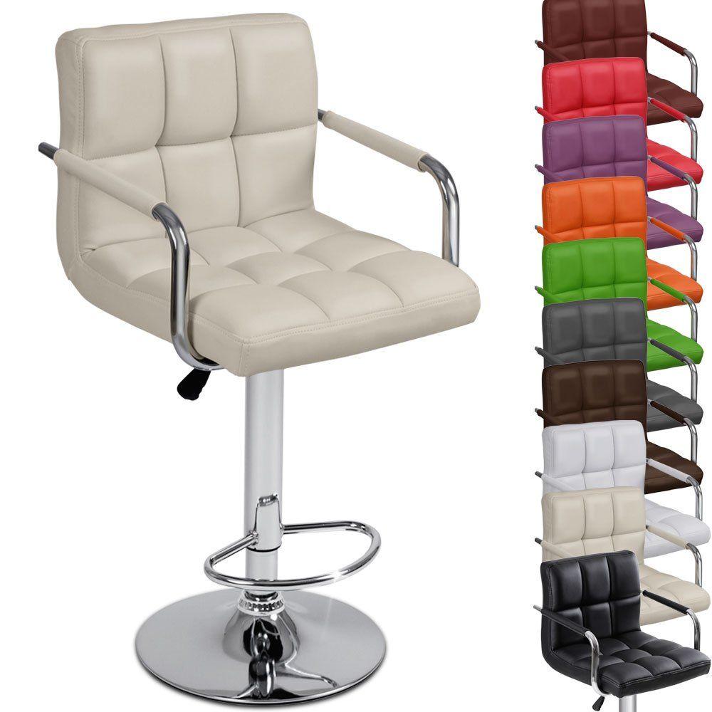 amazon kitchen chairs Miadomodo LBHK03 Single Bar stool with Armrest DIFFERENT COLOURS White Amazon