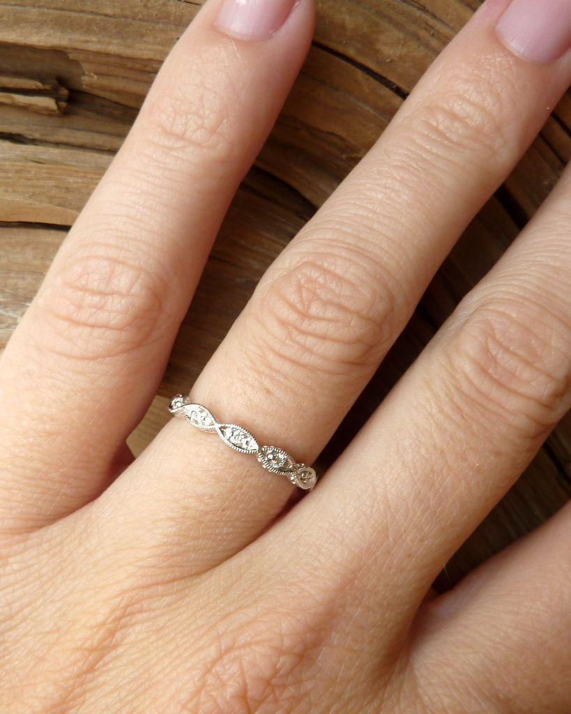 infinity diamond wedding band Scalloped Marquise Diamond Eternity Band Kate Szabone Jewellery Inc
