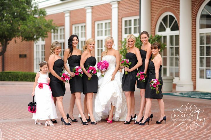 wedding dresses black Bridesmaid Love the black dresses