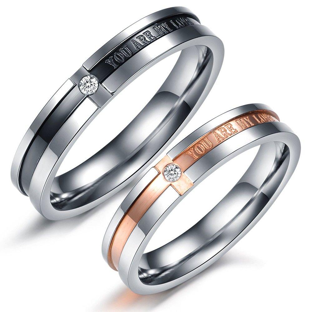 mens titanium wedding rings OPK Korean Lover JEWELRY Titanium Wedding Bands Couple Rings men and women s promise ring sets