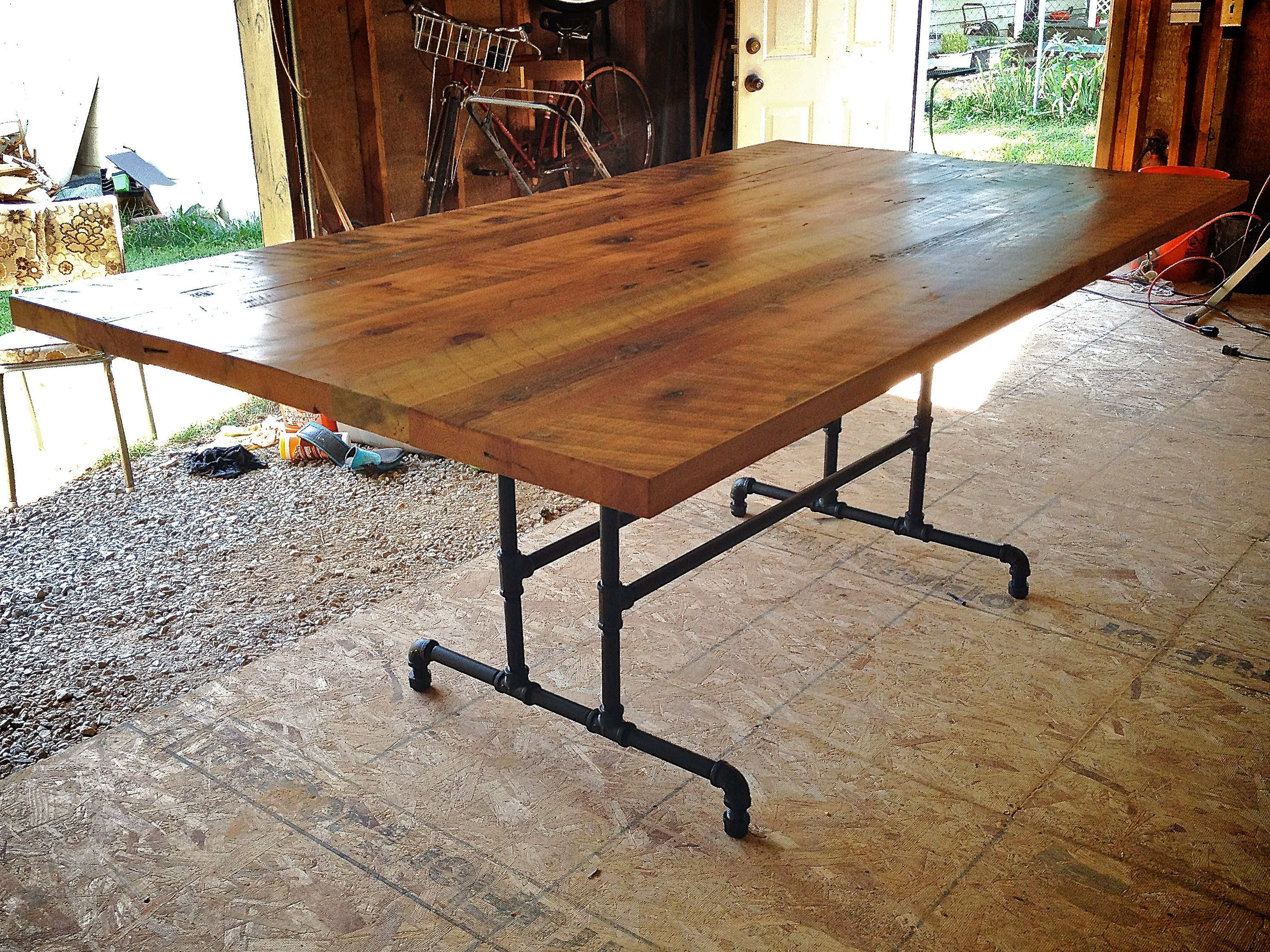 rustic kitchen tables simple rustic farmhouse kitchen table with metal frame design