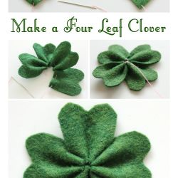Make a Four Leaf Clover by Molly and Mama Felt Flowers Pinterest
